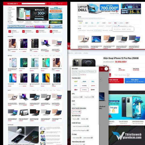 Giao diện web Technology 3