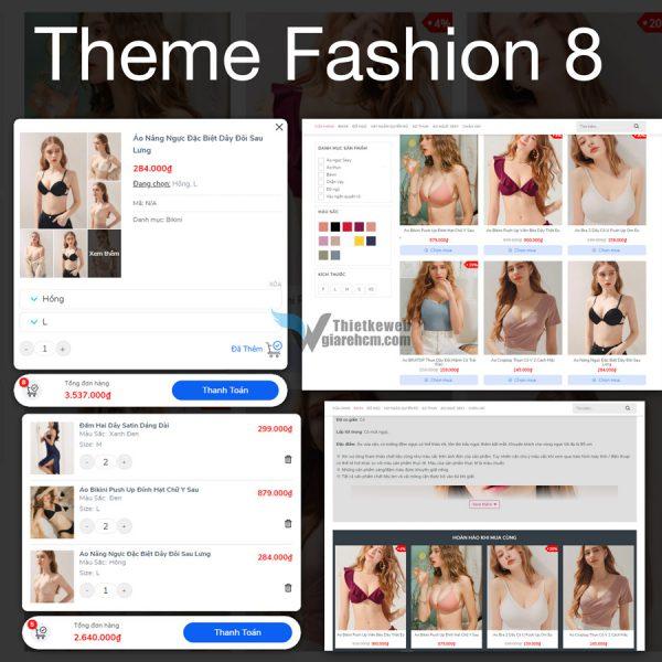 Theme wordpress thời trang 8 - Fashion 8